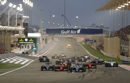 Formel 1, 2015, Bahrain, Start