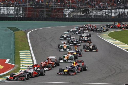 Brazilian GP 2013 Start Alonso Button Webber