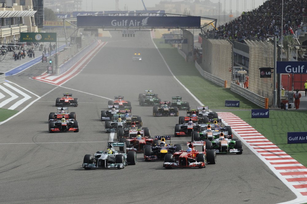 Photo: Formel 1, 2013, Bahrain, Start