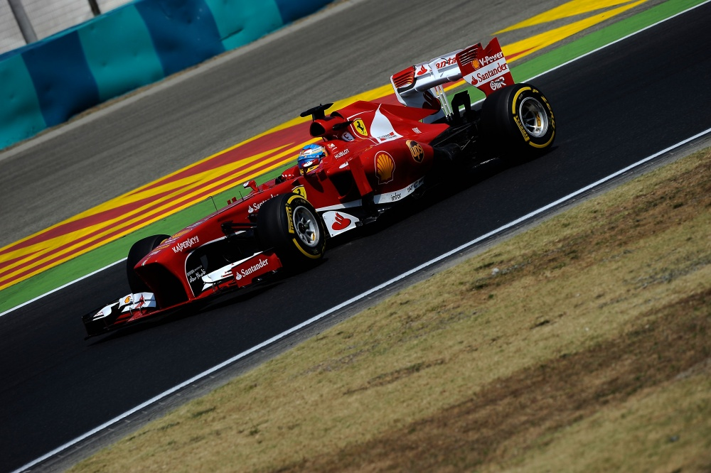 Photo: Formel 1, 2013, Ungarn, Alonso