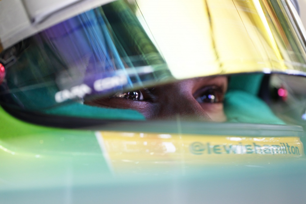 Photo: Formel 1, 2013, Ungarn, Pole, Hamilton