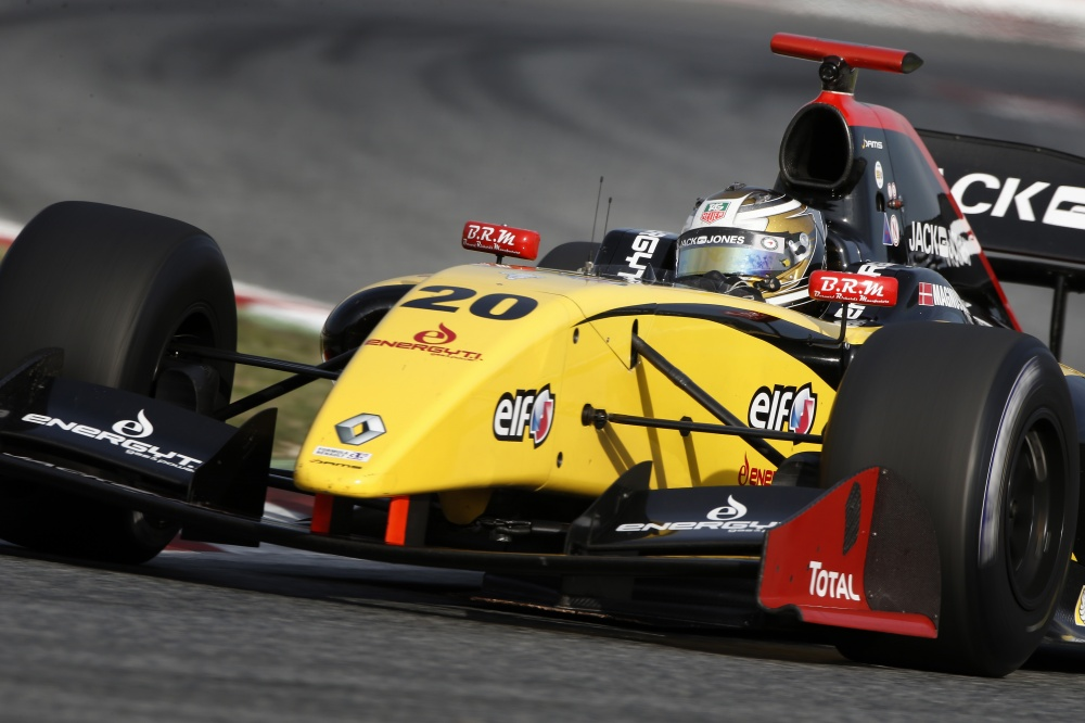 Photo: Renault Worldseries, 2013, Barcelona, Magnussen, Pole