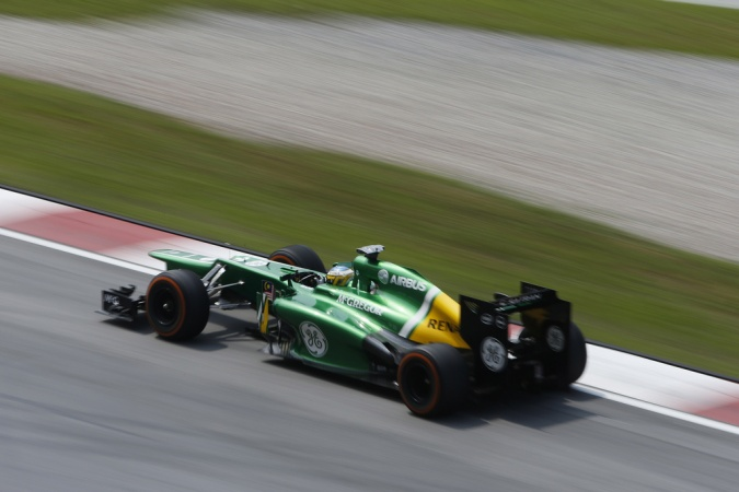 Photo: Charles Pic - Caterham F1 Team - Caterham CT03 - Renault