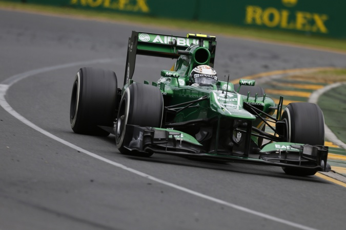 Photo: Giedo van der Garde - Caterham F1 Team - Caterham CT03 - Renault