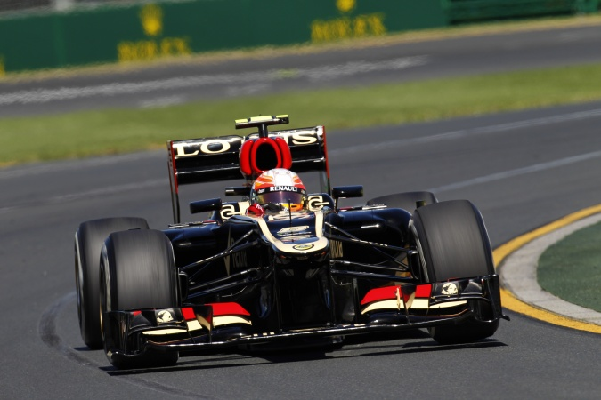 Photo: Romain Grosjean - Lotus F1 Team - Lotus E21 - Renault